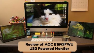 Review of AOC E1649FWU USB Powered Monitor