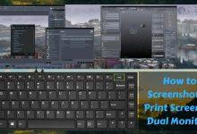 How to screenshot or print screen on dual monitors