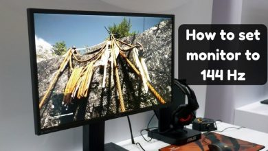 How to set monitor to 144 Hz
