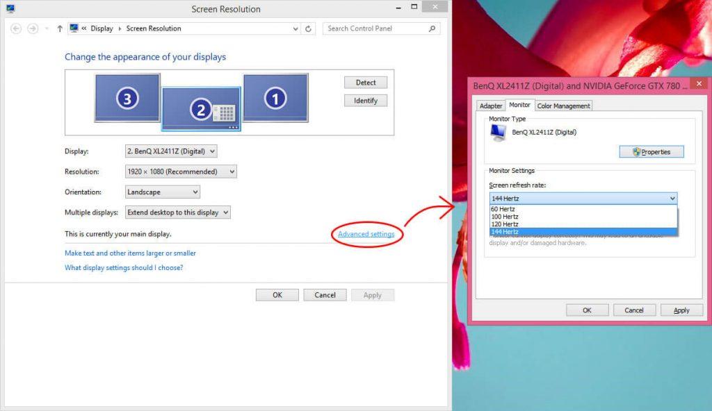 Screen Refresh Rate windows 7