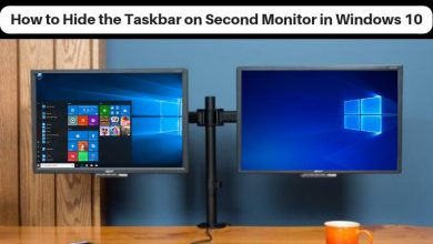How to hide the taskbar on second monitor in Windows 10