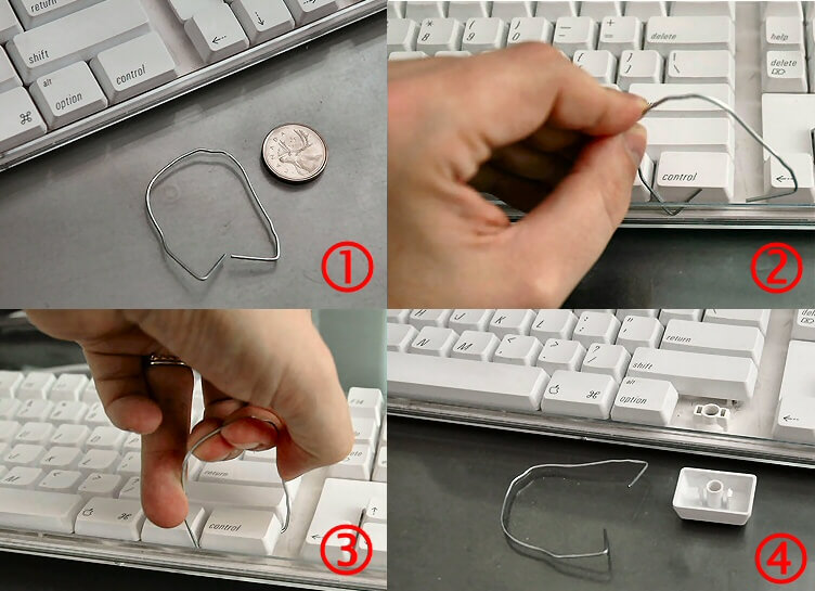 remove mechanical keys without a keycap puller