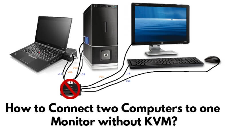 How to Connect two Computers to one Monitor without KVM_