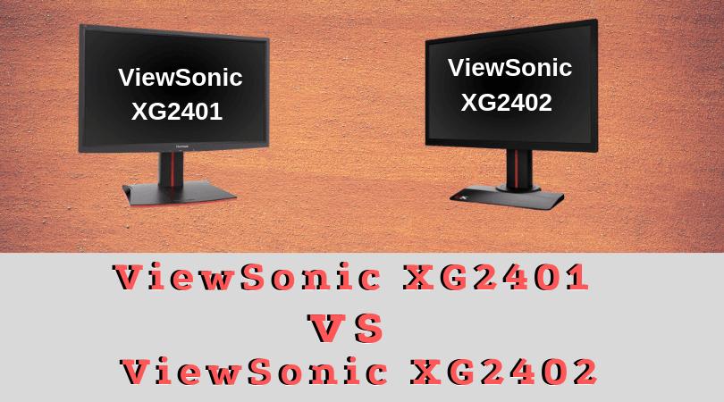 ViewSonic XG2401 vs XG2402