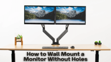 How to Wall Mount a Monitor Without Holes